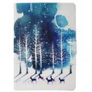 Pattern Printing Stand Leather Magnetic Cover Casing for Huawei MediaPad T3 10 - Winter Forest