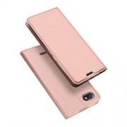 DUX DUCIS Skin Pro Series Θήκη Πορτοφόλι με Βάση Στήριξης για Xiaomi Redmi 6A - Ροζέ Χρυσαφί