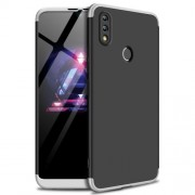 GKK Detachable 3-Piece Matte Hard Back Cover Case for Huawei Honor 8X Max - Silver / Black