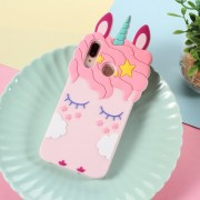 3D Unicorn Pattern Silicone Back Cover for Huawei P20 Lite / Nova 3e