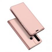 DUX DUCIS Skin Pro Series Θήκη Πορτοφόλι με Βάση Στήριξης για Samsung Galaxy A9 (2018) / A9 Star Pro / A9s - Ροζέ Χρυσαφί