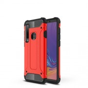 Armor Guard Plastic + TPU Hybrid Shell Case Cover for Samsung Galaxy A9 (2018) / A9 Star Pro / A9s - Red