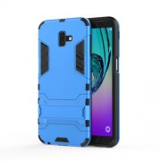 Cool Guard Plastic TPU Combo Cover with Kickstand for Samsung Galaxy J6 Plus - Baby Blue