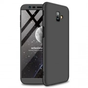 GKK 360 μοιρών Σκληρή Θήκη Ματ με Βελούδινη Υφή Πρόσοψης και Πλάτης για Samsung Galaxy J6 Plus / J6 Prime - Μαύρο