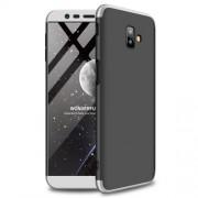 GKK 360 μοιρών Σκληρή Θήκη Ματ με Βελούδινη Υφή Πρόσοψης και Πλάτης για Samsung Galaxy J6 Plus / J6 Prime - Μαύρο / Ασημί