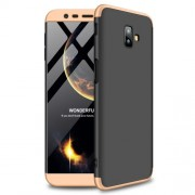 GKK 360 μοιρών Σκληρή Θήκη Ματ με Βελούδινη Υφή Πρόσοψης και Πλάτης για Samsung Galaxy J6 Plus / J6 Prime - Μαύρο / Χρυσαφί