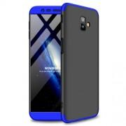 GKK 360 μοιρών Σκληρή Θήκη Ματ με Βελούδινη Υφή Πρόσοψης και Πλάτης για Samsung Galaxy J6 Plus / J6 Prime - Μαύρο / Μπλε