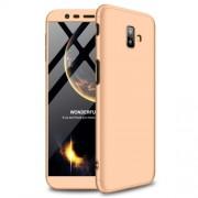 GKK Detachable 3-Piece Matte Plastic Case for Samsung Galaxy J6 Plus - Gold