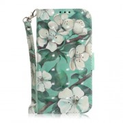 Light Spot Decor Patterned Wallet PU Leather Phone Case with Stand for Samsung Galaxy J6 Plus - Pretty Flowers