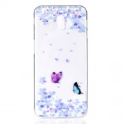 Pattern Printing TPU Cover Shell for Samsung Galaxy J6 Plus - Two Butterflies