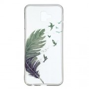 Pattern Printing IMD Soft TPU Shell for Samsung Galaxy J6 Plus / J6 Prime - Feather Pattern