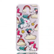 Pattern Printing Soft TPU Cell Phone Case for Samsung Galaxy J6+ J610 / J6 Prime - Unicorn