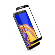 MOCOLO Silk Print Arc Edge Full Coverage 9H Tempered Glass Screen Protector for Samsung Galaxy J6 Plus - Black