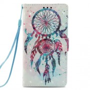 Pattern Printing Leather Wallet Casing for Galaxy J6 (2018) - Colorized Dream Catcher