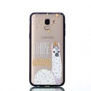 Embossment Pattern Rubberized TPU + PC Hybrid Back Case for Samsung Galaxy J6 (2018) - I Choose to Be a Unicorn