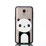Embossment Pattern Rubberized TPU + PC Combo Case for Samsung Galaxy J6 (2018) - Panda