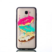 Embossment Pattern Rubberized TPU + PC Combo Phone Case for Samsung Galaxy J6 (2018) - Doughnut