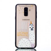 Rubberized Embossed TPU + PC Phone Cover for Samsung Galaxy A6 Plus (2018) / A9 Star Lite - Alpaca Unicorn