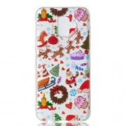 Christmas Series Pattern Printing TPU Back Case for Samsung Galaxy A6 (2018) - Christmas Elements