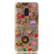Christmas Pattern Printing TPU Jelly Mobile Case for Samsung Galaxy A8 (2018) - Christmas Elements