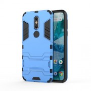 Cool Guard Kickstand Hybrid PC TPU Accessory Case for Nokia 7.1 - Baby Blue
