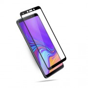MOCOLO Silk Print Arc Edge Full Coverage Tempered Glass Screen Protector for Samsung Galaxy A9 (2018) / A9 Star Pro / A9s - Blac