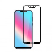 MOCOLO Silk Print Arc Edge Full Coverage Tempered Glass Screen Protector for Huawei Honor Play - Black