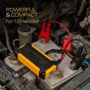 12V 18000mAh Emergency Car Jump Starter USB Phone Power Bank Charger with Flashlight, Campass, Safty Knife