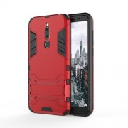 Cool Guard Kickstand PC TPU Combo Case for Meizu M6T - Red