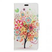 Δερμάτινη Θήκη Πορτοφόλι με Βάση Στήριξης για Meizu M6 Note - Ανθισμένο Δέντρο