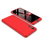 GKK 360 μοιρών Σκληρή Θήκη Ματ με Βελούδινη Υφή Πρόσοψης και Πλάτης για Huawei P20 Pro - Κόκκινο