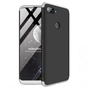 GKK 360 μοιρών Σκληρή Θήκη Ματ με Βελούδινη Υφή Πρόσοψης και Πλάτης για Xiaomi Mi 8 Lite / Mi 8 Youth (Mi 8X) - Μαύρο / Ασημί