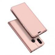 DUX DUCIS Skin Pro Series Θήκη Πορτοφόλι με Βάση Στήριξης για Xiaomi Redmi Note 6 / Note 6 Pro - Ροζέ Χρυσαφί
