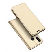 DUX DUCIS Skin Pro Series Θήκη Πορτοφόλι με Βάση Στήριξης για Xiaomi Redmi Note 6 / Note 6 Pro - Χρυσαφί