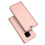 DUX DUCIS Skin Pro Series Θήκη Πορτοφόλι με Βάση Στήριξης για Huawei Mate 20 Pro - Ροζέ Χρυσαφί