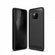 Θήκη Σιλικόνης TPU Carbon Fiber Brushed για Huawei Mate 20 Pro - Μαύρο
