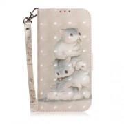 Δερμάτινη Θήκη Πορτοφόλι με Βάση Στήριξης για Samsung Galaxy J4 Plus - Πανέμορφα Ποντικάκια