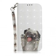 Δερμάτινη Θήκη Πορτοφόλι με Βάση Στήριξης για Samsung Galaxy J4 Plus - Χαριτωμένο Σκυλάκι