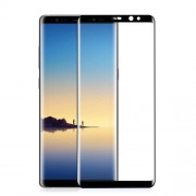 ANGIBABE 0.3mm Full Size Curved Silk Print Mobile Tempered Glass Protector for Samsung Galaxy Note 8 SM-N950 - Black