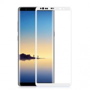 ANGIBABE 0.3mm Full Covering Curved Silk Print Mobile Tempered Glass Protector for Samsung Galaxy Note 8 SM-N950 - White