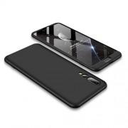 GKK 360 μοιρών Σκληρή Θήκη Ματ με Βελούδινη Υφή Πρόσοψης και Πλάτης για Huawei P20 Pro - Μαύρο