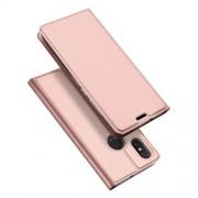 DUX DUCIS Skin Pro Series Θήκη Πορτοφόλι με Βάση Στήριξης για Xiaomi Mi 8 (6.21-inch) - Ροζέ Χρυσαφί