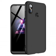 GKK 360 μοιρών Σκληρή Θήκη Ματ με Βελούδινη Υφή Πρόσοψης και Πλάτης για Xiaomi Mi 8 (6.21-inch) - Μαύρο