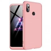 GKK 360 μοιρών Σκληρή Θήκη Ματ με Βελούδινη Υφή Πρόσοψης και Πλάτης για Xiaomi Mi 8 (6.21-inch) - Ροζέ Χρυσαφί