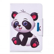 Pattern Printing Universal Leather Stand Case with Card Slots for 7-inch Tablet PC - Panda Pattern