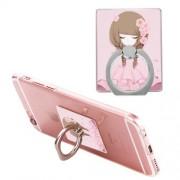 Δαχτυλίδι Βάση Στήριξης Περιστρεφόμνη - Κορίτσι με Ροζ Φόρεμα