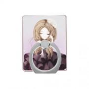 Δαχτυλίδι Βάση Στήριξης Περιστρεφόμνη - Κορίτσι με Μωβ Φόρεμα