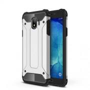 Armor Guard Plastic + TPU Hybrid Phone Shell for Samsung Galaxy J4 (2018) - Silver
