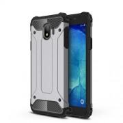 Armor Guard Plastic + TPU Hybrid Mobile Case for Samsung Galaxy J4 (2018) - Grey