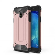 Armor Guard Plastic + TPU Combo Mobile Cover for Samsung Galaxy J4 (2018) - Rose Gold